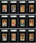 """Non-Sport Cards:Sets, 1939 Rothmans """"Beauties of the Cinema"""" High-Grade SGC Complete Set(40) - With 92.7 GPA!..."""