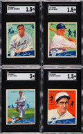 Baseball Cards:Lots, 1934 Goudey Baseball Partial Set (47 different)....
