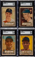 Baseball Cards:Lots, 1952 Topps Baseball Collection (66) With 35 High Numbers....
