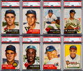 Baseball Cards:Lots, 1952 and 1953 Topps Baseball Shoe Box Collection (190) With 1953 Topps Mantle PSA 5....