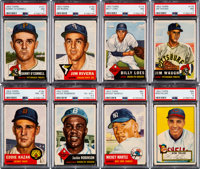 1952 and 1953 Topps Baseball Shoe Box Collection (190) With 1953 Topps Mantle PSA 5