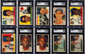 Baseball Cards:Lots, 1955-57 Topps Baseball Shoe Box Collection (947) With Stars....