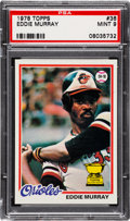 Baseball Cards:Singles (1970-Now), 1978 Topps Eddie Murray #36 PSA Mint 9....