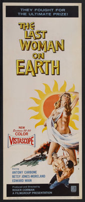 "The Last Woman on Earth (Film Group, Inc., 1960). Insert (14"" X 36""). Sci-Fi Horror. Starring Antony Carbone..."