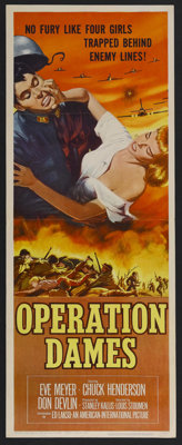 "Operation Dames (AIP, 1959). Insert (14"" X 36""). War. Starring Eve Meyer, Chuck Henderson and Don Devlin. Dire..."