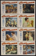 "Movie Posters:Adventure, The Naked Jungle (Paramount, 1954). Lobby Card Set of 8 (11"" X14""). Adventure. Starring Eleanor Parker, Charlton Heston, Ab...(Total: 8 Items)"