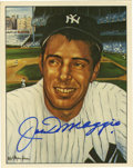 Autographs:Sports Cards, 1983 Joe DiMaggio Signed TCMA Card. A perfect pairing of a 10/10blue sharpie autograph and a masterful portrait by Robert ...