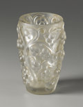 Art Glass:Lalique, A French Molded And Frosted Glass Vase. Rene Lalique (French,1860-1945). Designed 1928. Frosted and clear glass. Marks: i...