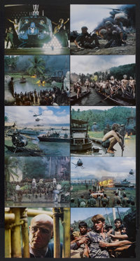 "Apocalypse Now (United Artists, 1979). Deluxe Lobby Cards (10) (11"" X 14""). War. Starring Marlon Brando, Marti..."