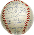 Autographs:Baseballs, 1953 St. Louis Cardinals Team Signed Baseball. Much Hall of Fame talent is apparent with the current offering -- an ONL (Gi...