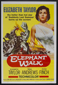 "Movie Posters:Adventure, Elephant Walk (Paramount, R-1960). One Sheet (27"" X 41"").Adventure. Starring Elizabeth Taylor, Dana Andrews, Peter Finch,A..."