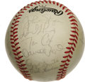 Autographs:Baseballs, 1984 St. Louis Cardinals Team Signed Baseball. With Whitey Herzogat the helm, the 1984 St. Louis Cardinals played a solid ...