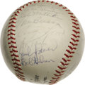 Autographs:Baseballs, 1964 St. Louis Cardinals World Champion Team Signed Baseball. ONL (Giles) orb offered here provides 26 signatures from the ...