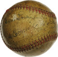 Autographs:Baseballs, 1938 Philadelphia Athletics Team Signed Baseball. Excellent OAL(Harridge) orb here has been applied with the signatures of...