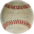 Autographs:Baseballs, 1960 New York Yankees Team Signed Baseball. For the serious Yankeecollector we present this marvelous orb on which the M&M...