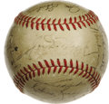 Autographs:Baseballs, 1941 New York Yankees World Champion Team Signed Baseball. New York Yankees can gladly cal back to the finest dynasty in ba...