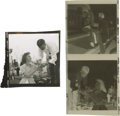 "Movie/TV Memorabilia:Photos, Contact Sheet Proof of Natalie Wood and Two ""Rebel"" Negatives with James Dean. Three superb items: a contact proof of a smil..."