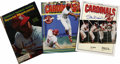 Autographs:Others, St. Louis Cardinals Game Day Programs & Sports IllustratedMagazines Lot of 24. Lots of Cardinals greats have decorated the...