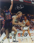 """Autographs:Photos, Oversized Larry Bird Signed Photograph. Large (16x20"""") and magnificent image of the Boston Celtics Hall of Famer at work be..."""