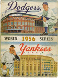 Autographs:Others, 1956 World Series Multi-Signed Program with Robinson, Campy, Mantle. From a Series best remembered for Don Larsen's Game Fi...