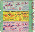 Baseball Collectibles:Tickets, 1953 World Series Ticket Proof Sheet with 1953-60 Scorecards Lot of5. Artist's proof sheet offers a block of World Series ...