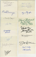 Football Collectibles:Others, Football Hall of Famers Signed Index Cards Lot of 65. Amazing collection here amasses 65 signed index cards, all bearing th...