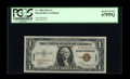 Fr. 2300 $1 1935A Hawaii Silver Certificate. PCGS Superb Gem New 67PPQ. Here is yet another well margined and deeply emb...