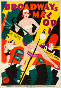 "Movie Posters:Musical, The Broadway Melody (MGM, 1929). Swedish One Sheet (27.5"" X 39.5""). Eric Rohman Artwork.. ..."