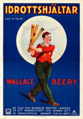 "Movie Posters:Sports, Casey at the Bat (Paramount, 1927). Swedish One Sheet (27.5"" X 39.5"").. ..."