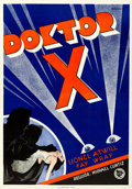 """Movie Posters:Horror, Doctor X (First National, 1932). Swedish One Sheet (27.5"""" X 39"""") Eric Rohman Artwork.. ..."""