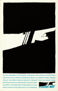 "Movie Posters:War, In Harm's Way by Saul Bass (Art Krebs Screen Studio, 1984). SilkScreen Poster (25"" X 39"").. ..."