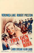 """Movie Posters:Film Noir, This Gun for Hire (Paramount, 1942). Window Card (14"""" X 22"""").. ..."""