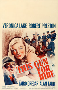"""This Gun for Hire (Paramount, 1942). Window Card (14"""" X 22"""")"""