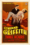 """Movie Posters:Drama, Three Hours (First National, 1927). One Sheet (27"""" X 41"""") Style A. From the Collection of Frank Buxton, of which the sale'..."""
