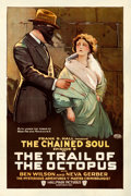 """Movie Posters:Serial, The Trail of the Octopus (Hallmark, 1919). One Sheet (27"""" X 41"""") Chapter 9 -- """"The Chained Soul."""" From the Collection of F..."""