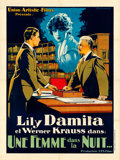 "Movie Posters:Foreign, A Woman in the Night (Union Artistic Films, 1924). French Grande (47.5"" X 63"").. ..."