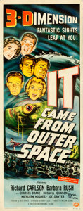 "Movie Posters:Science Fiction, It Came from Outer Space (Universal International, 1953).Autographed Insert (14"" X 36"") 3-D Style, Joseph Smith Artwork...."