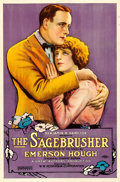 """Movie Posters:Western, The Sagebrusher (W.W. Hodkinson Corporation, 1920). One Sheet(26.75"""" X 40.75""""). From the Collection of Frank Buxton, ofw..."""