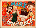 "Movie Posters:Comedy, A Day at the Races (MGM, 1937). Title Lobby Card (11"" X 14"") AlHirschfeld Artwork.. ..."