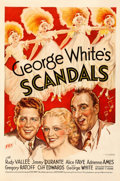 "Movie Posters:Musical, George White's Scandals (Fox, 1934). Very Fine- on Linen. One Sheet(27"" X 41""). Musical.. ..."