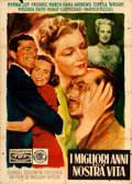 "Movie Posters:Drama, The Best Years of Our Lives (Trans World, 1948). Italian 2 - Fogli (39"" X 55"").. ..."