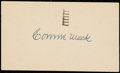 Autographs:Post Cards, 1951 Connie Mack Signed Government Postcard. ...