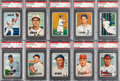 Baseball Cards:Lots, 1951 Bowman Baseball PSA-Graded Collection (23) With High Numbers....