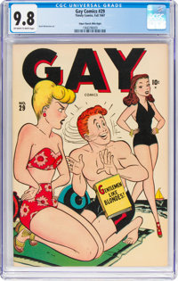 Gay Comics #29 Mile High Pedigree (Timely, 1947) CGC NM/MT 9.8 Off-white to white pages