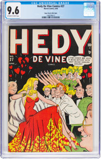 Hedy Devine Comics #27 Mile High Pedigree (Timely, 1948) CGC NM+ 9.6 Off-white to white pages