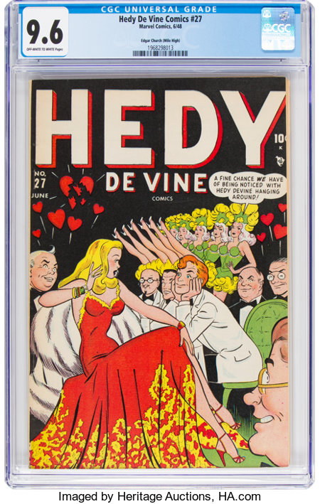 Hedy Devine Comics #27 Mile High Pedigree (Timely, 1948) CGC NM+ 9.6 Off-white to white pages....