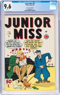 Junior Miss #33 Mile High pedigree (Timely, 1949) CGC NM+ 9.6 White pages