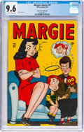 Golden Age (1938-1955):Humor, Margie Comics #37 Mile High Pedigree (Marvel, 1947) CGC NM+ 9.6 Off-white to white pages....