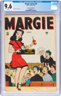 Golden Age (1938-1955):Humor, Margie Comics #38 Mile High Pedigree (Marvel, 1947) CGC NM+ 9.6 White pages....