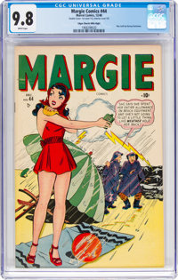 Margie Comics #44 Double Cover - Mile High Pedigree (Marvel, 1948) CGC NM/MT 9.8 White pages
